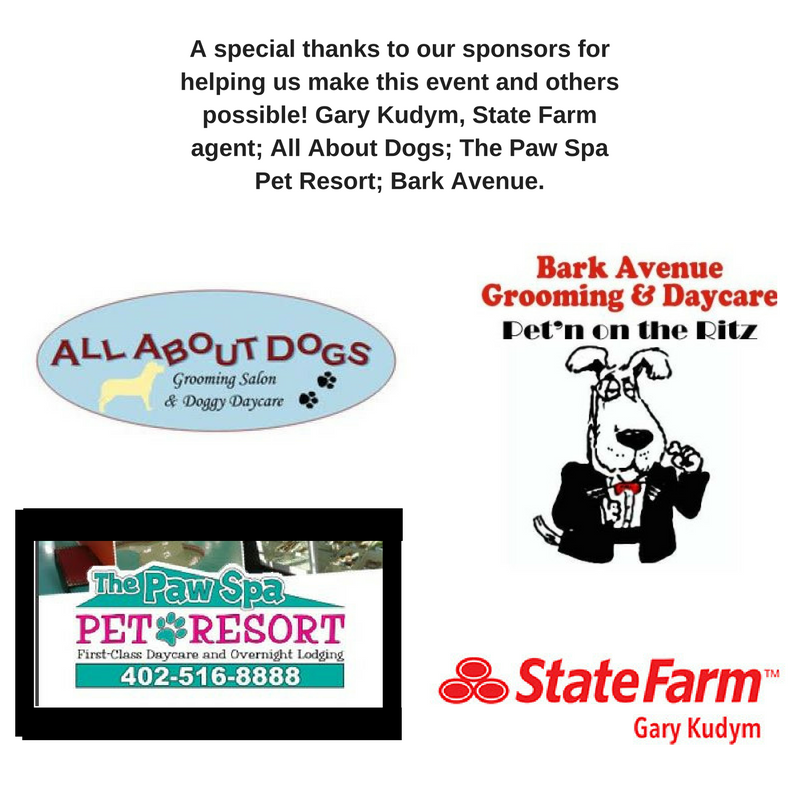 Pets in omaha kirby s hope present 2016 shelter aid for 5 paws hotel salon